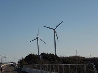 昨夜見た風車がここに。