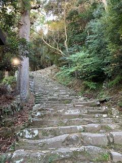 神倉神社の538段の石段。これから登る。