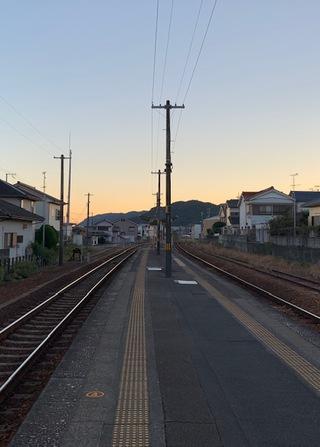 阿田和駅、16:40